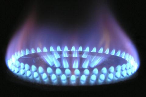brandend gas